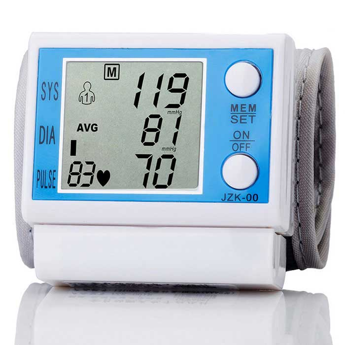 Buy JZK-001 Wrist Style Electronic Blood Pressure Monitor - Blue with Litecoins with Free Shipping on Gipsybee.com