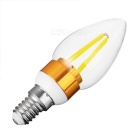 E14 4W 4-COB LED Cold White Light Bulb - White + Golden (AC 220V)