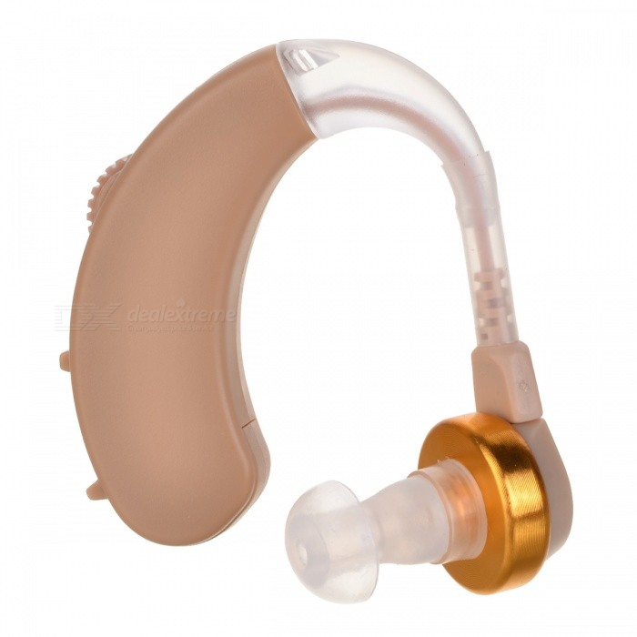 Buy Behind Ear Sound Amplifier Digital Audiphone w/ Earplugs - Golden with Litecoins with Free Shipping on Gipsybee.com