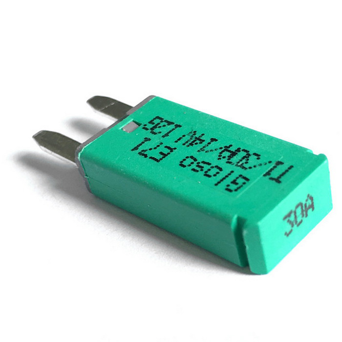 IZTOSS F444 30A Car Mini Auto Reset Circuit Breaker Blade Fuse - GreenPower Fuses<br>Form  ColorGreen 30AModelF444Quantity1 DX.PCM.Model.AttributeModel.UnitMaterialUL-Rated 94V0 ThermoplasticRate Voltage14VRated Current30 DX.PCM.Model.AttributeModel.UnitFusing Current30 DX.PCM.Model.AttributeModel.UnitDiameter1.2 DX.PCM.Model.AttributeModel.UnitApplicationCarOther FeaturesMaterial: UL-Rated 94V0 Thermoplastic; <br>Operating Temperature Rating: 40°F (40°C) to 185°F (85°C). <br>Storage Temperature Rating: 40°F (40°C) to 260°F (125°C). <br>Reset: automatic recovery; <br>Wire foot: 2.8 mm plug; <br>Rating: 30A;14V; <br>Compliances: SAE J553 Type I and Type II Circuit Breakers.Packing List1*30A automatic circuit breaker<br>