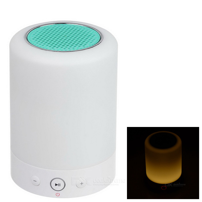 Green Atmosphere Lamp Bluetooth Speaker w/ Micro USB / Micro SD, FM