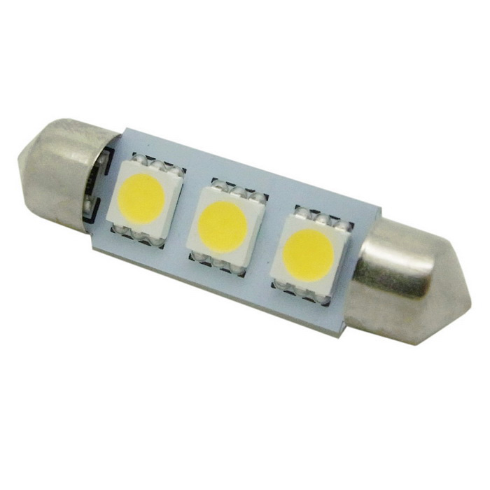 Buy HONSCO Festoon 39mm 1W 30lm 3-5050 SMD LED Cold White Car Reading Lamp with Litecoins with Free Shipping on Gipsybee.com