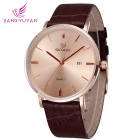 Skone 508403 Unisex Business Watch w / kalenteri - Rose Gold + Coffee