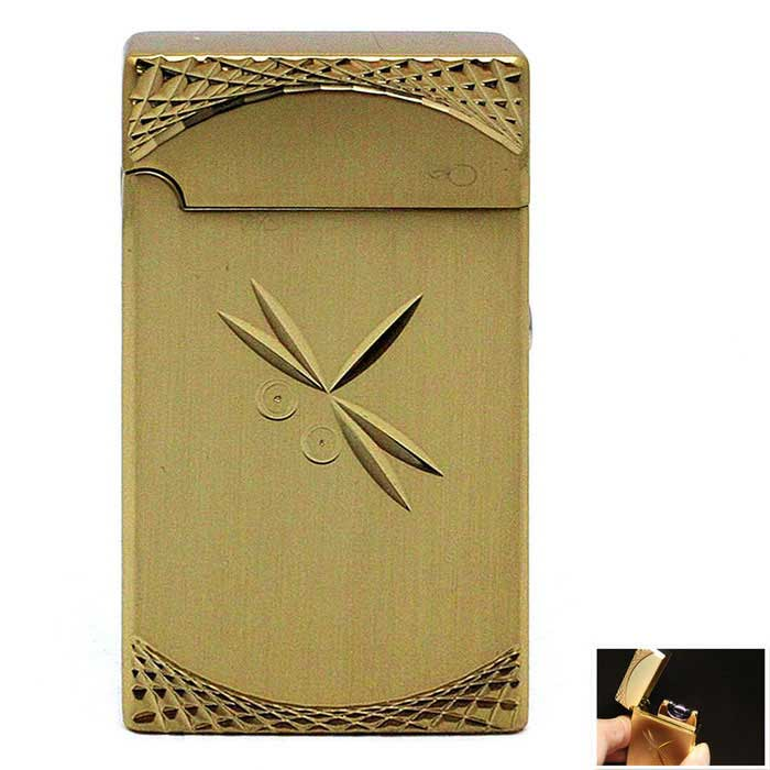USB Exquisite Carving Electric Arc Cigarette Lighter - GoldenOther Lighters<br>Form  ColorGoldenMaterialMetalQuantity1 DX.PCM.Model.AttributeModel.UnitShade Of ColorGoldTypeUSBFlame ColorBlue / orangeWindproofYesPower SupplyRechargeable Li-ion BatteryCharging Time2 DX.PCM.Model.AttributeModel.UnitPacking List1 * Lighter1 * Charging cable (15.5cm)<br>