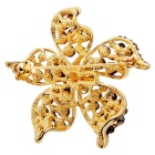 Xinguang Women's Flower New High-Grade Pearl Brooch - Golden + Black