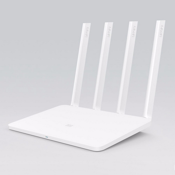 Xiaomi MIR3 Dual Band 4-Antenna 3-WAN Router - WhiteRouters<br>Form  ColorWhiteModelMIR3Quantity1 DX.PCM.Model.AttributeModel.UnitMaterialabsShade Of ColorWhiteTypeRouterChipsetMT7620ATransmission Rate300,Others,876MBPS(5G) DX.PCM.Model.AttributeModel.UnitNetwork ProtocolsIEEE 802.11a,IEEE 802.11n,IEEE 802.11b,IEEE 802.11gSecurityWPA,WPA2-PSK,Others,Wireless access control (black and white list), SSIDWireless Data Rates300M,Others,876MBPSWAN3UI LanguageChineseSupport DD-WRTYesNetwork ProtocolTCP,IPNetwork Management TypeManagedPowered ByAC ChargerSupports SystemWin xp,Win 2000,Win 2008,Win vista,Win7 32,Win7 64,Win8 32,Win8 64,MAC OS X,IOS,Linux,Android 2.x,Android 4.xWorking Temperature0-40 DX.PCM.Model.AttributeModel.UnitWorking Humidity10%-90%RH (noncondensing)CertificationGB9254-2008 YD/T993-1998 GB4943.1-2011Packing List1*Xiaomi router1*User Manual in Chinese1*US plug adapter (80cm 12V/1A)<br>