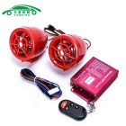 Motorcycle Anti-Theft Alarm Device w/ Dual Speakers - Red (2PCS)