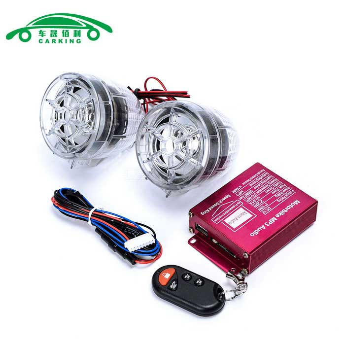 Motorcycle Anti-Theft Alarm w/ Dual Speakers - (2PCS)