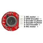 12V 350RPM DC Gear Motor with Hall Encoder - Silver