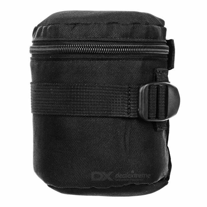 SLR Camera Lens Shockproof Protective Bag for Canon Nikon - BlackBags and Cases<br>Form  ColorBlackShade Of ColorBlackMaterialNylon + pearl foamQuantity1 DX.PCM.Model.AttributeModel.UnitCompatible BrandSony NikonCompatible ModelsCanon: 50-1.4 35-1.4 50-1.8 85-1.8 18-55 35-2 Nikon50-1.4 50-1.8 16-85 18-55 35-1.8G 28-1.8G 60-2.8 24-85Water ResistantFor daily wear. Suitable for everyday use. Wearable while water is being splashed but not under any pressure.Anti-ShockYesSizeOthers,Inner diameter: 8.5cm, inner high: 10cmInner DimensionInner diameter: 8.5cm, inner high: 10cmDimension10*13 DX.PCM.Model.AttributeModel.UnitPacking List1 * Lens bag<br>
