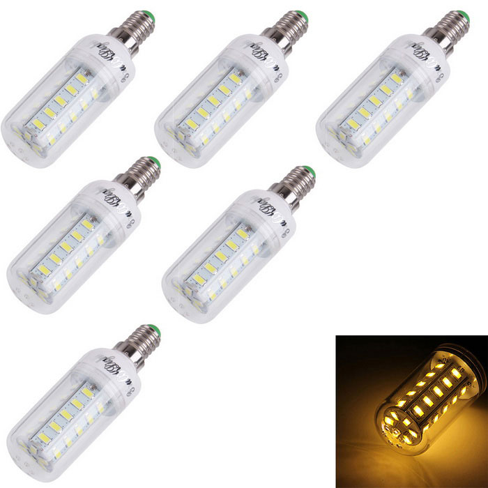 YouOKLight E14 4W LED Corn лампы теплый белый 280lm 36-SMD 5730 (6PCS)
