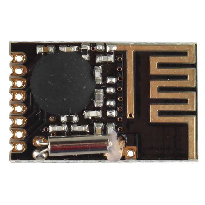 Mini NRF24L01+ 2.4GHz Wireless Data Transmission Module - Black