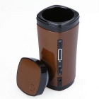Silicone USB Coffee Cup w / Automatique agitation Fonction - Brown (130ml)