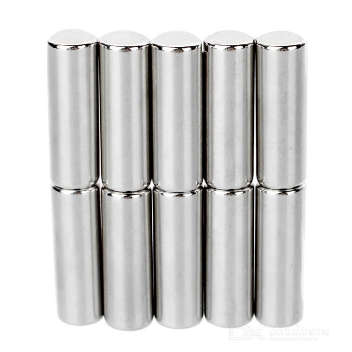 Cylindrical NdFeB Neodymium Magnet D10*30mm - Silver (10 PCS)Magnets Gadgets<br>Form  ColorSilverMaterialNdFeBQuantity1 DX.PCM.Model.AttributeModel.UnitNumber10Suitable Age 12-15 years,Grown upsPacking List10 * Magnets<br>