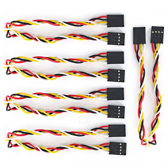 4-Pin Female to Female Dupont Line Wire for Arduino (21cm / 5PCS)
