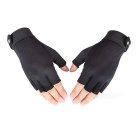 AOTU AT8823 Sport respirante Mesh Finger Semi Gants - Noir (L)