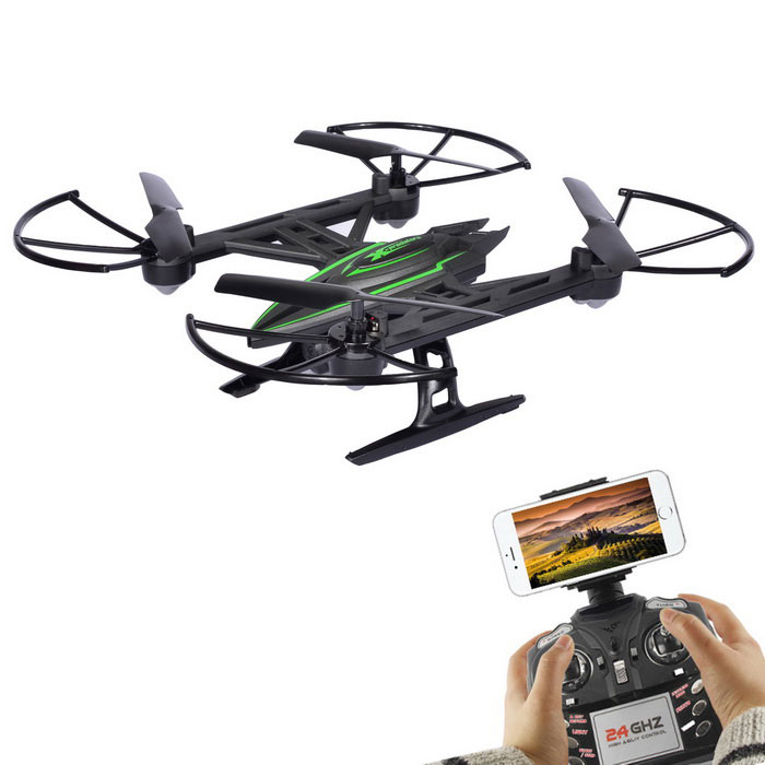 JXD 510W Wi-Fi FPV 4CH 6-Axis RC Quadcopter w/ 0.3MP Camera - Black