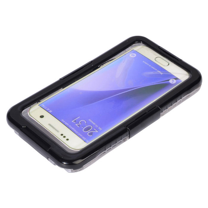 Waterproof Protective Case for Samsung Galaxy S7 Edge - Black