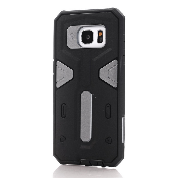 TPU + PC Back Case for Samsung Galaxy S7 Edge - Black + GrayTPU Cases<br>Form  ColorBlack + GreyQuantity1 DX.PCM.Model.AttributeModel.UnitMaterialOthers,TPU + PCShade Of ColorBlackCompatible ModelsSamsung Galaxy S7edgeDesignMixed Color,With Anti Dust PlugStyleBack CasesPacking List1*Case<br>