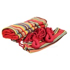Sunfield Single Person Cotton Swing Hamac - Rouge + Multi-Coloré