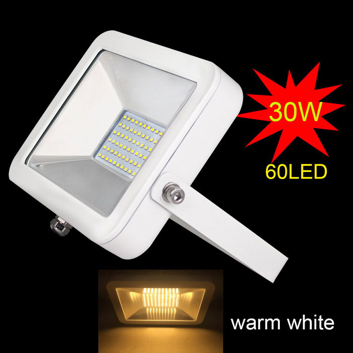 Uniting IP65 30W 60-2835 LED Warm White Flood Light (AC 100-240V)Floodlights<br>Form  ColorWhiteColor BINWarm WhiteModelF-30WMaterialaluminum+ glassesQuantity1 DX.PCM.Model.AttributeModel.UnitWaterproof LevelIP65Power30WRated VoltageAC 100-240 DX.PCM.Model.AttributeModel.UnitConnector TypeOthers,-Chip BrandEpistarChip Type2835Emitter TypeLEDTotal Emitters60Theoretical Lumens3000 DX.PCM.Model.AttributeModel.UnitActual Lumens3000 DX.PCM.Model.AttributeModel.UnitColor Temperature3000KDimmableNoBeam Angle120 DX.PCM.Model.AttributeModel.UnitPacking List1*30W Floodlight(Cable length: 40cm approximately)1*Box<br>