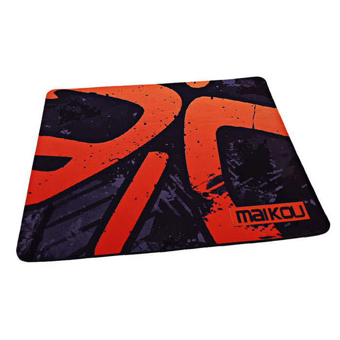 Buy MAIKOU MK-400 400 * 450mm Rubber Mouse Pad Mat - Black + Orange with Litecoins with Free Shipping on Gipsybee.com