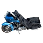 Motorcycle Waterproof Rainproof Anti-UV Cover - Black + Silver (L)