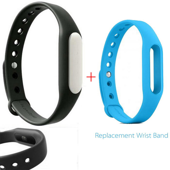 Xiaomi Mi Band 1S Smart Bracelet + Replacement Wristband - Black+ BlueSmart Bracelets<br>Form ColorBlack+blueModelXMSH02HMQuantity1 DX.PCM.Model.AttributeModel.UnitMaterialAluminum alloyTPSIV+TPUWater-proofIP67Bluetooth VersionBluetooth V4.0Operating SystemAndroid 4.4,Android 4.4.1,Android 4.4.2,iOS,-Compatible OSAndroid 4.4 or above,<br>Bluetooth V4.0,<br>Suitable for IPHONE 4S / 5 / 5C / 5S / 6 / 6 Plus with iOS 7.0 or aboveBattery Capacity45 DX.PCM.Model.AttributeModel.UnitBattery TypeLi-polymer batteryStandby Time10 DX.PCM.Model.AttributeModel.UnitPacking List1 * Bracelet1 * Black Wristband1 * Chinese user manual1 * Charging cable (15cm)1 * Blue Wristband<br>