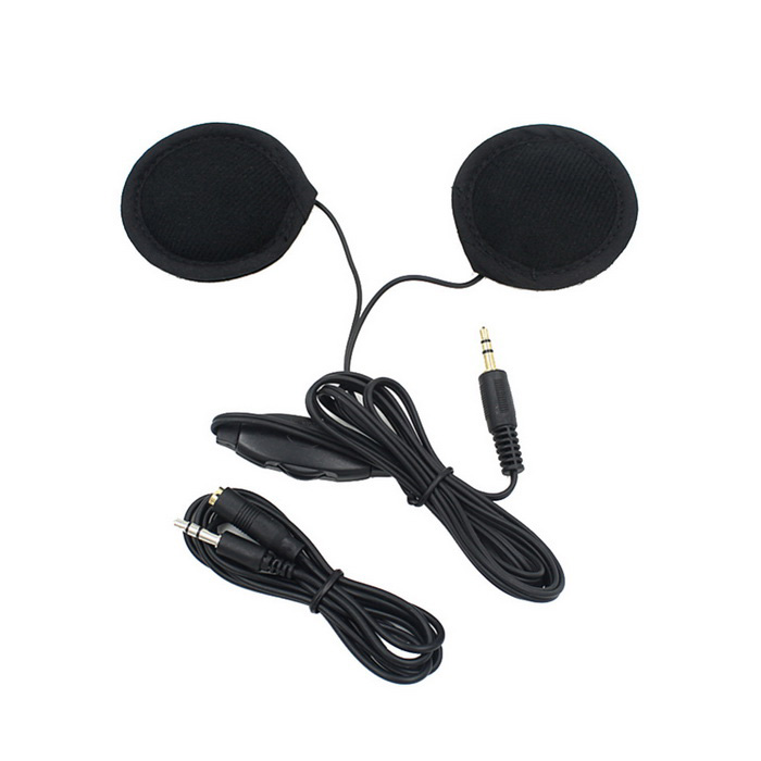 3.5mm Motorcycle Helmet Stereo Speakers MP3 Earphones - BlackHeadphones<br>Form ColorBlackQuantity1 DX.PCM.Model.AttributeModel.UnitShade Of ColorBlackHeadphone StyleBilateralConnection3.5mm WiredCable Length130 DX.PCM.Model.AttributeModel.UnitMaterialABSSNR125dBTHDRemoteYesWith MicrophoneNoFrequency Response20Hz~20KHzImpedance32ohm DX.PCM.Model.AttributeModel.UnitConnector3.5mmLeft &amp; Right Calbes TypeEqual LengthVolume ControlSupportBrandOthers,N/ABluetooth VersionNoWaterproof LevelIPX0 (Not Protected)Applicable ProductsOthers,Motorcycle HelmetHeadphone FeaturesNoise-Canceling,Volume Control,With Microphone,Portable,For Sports &amp; ExerciseSupports MusicYesSupport Memory CardNoSupport Apt-XNoPacking List1 * Headphones (130cm)1 * Extension cable (95cm)<br>