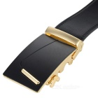 "Miesten ""7"" Pattern Automatic Buckle Belt - Musta + Golden"