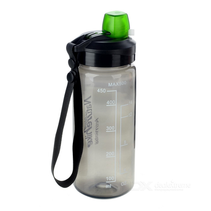 NatureHike Outdoor Sports Quick &amp; Easy Open Water Bottle - BlackForm  ColorTransparent Black + BlackQuantity1 DX.PCM.Model.AttributeModel.UnitMaterialPPBest UseFamily &amp; car camping,Camping,Mountaineering,Travel,Cycling,FishingTypeWater BottlesPacking List1 * Bottle<br>