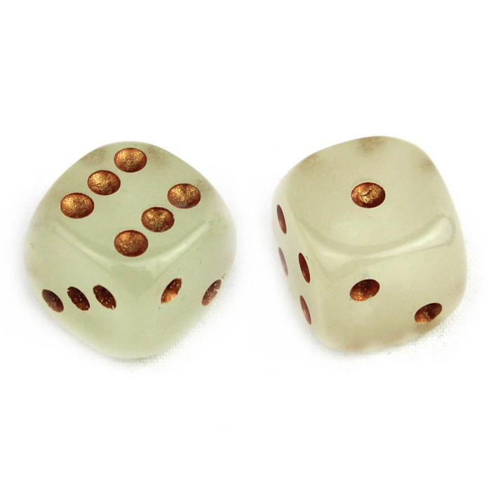 Buy 15mm Green Light Luminous Dices - Golden + Multi-Color (2PCS) with Litecoins with Free Shipping on Gipsybee.com
