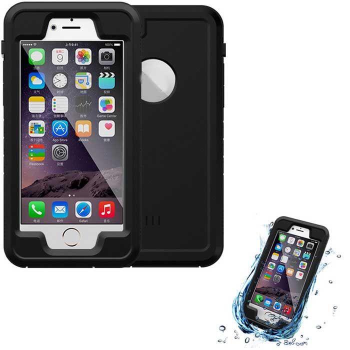 WPC-01 Waterproof Case Cover for IPHONE 6  /6S - Black