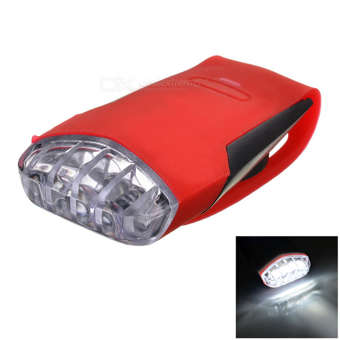 Bike Bicycle 4-LED Silicone Neutral White Light Headlamp