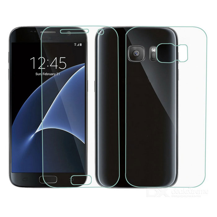 Protective TPU Front + Back Screen Protectors for Samsung Galaxy S7