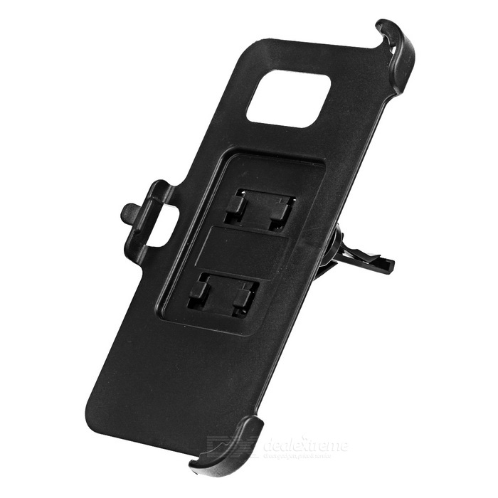 Car Air Outlet Mount + Phone Holder for Samsung Galaxy S7 Edge - Black