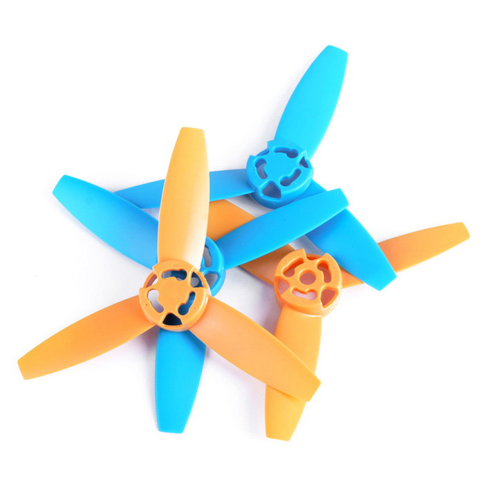 3-Blade Propellers for Parrot Bebop Drone 3.0 - Yellow + Blue (4PCS)Other Accessories for R/C Toys<br>Form  ColorYellow + BlueMaterialNylonQuantity2 DX.PCM.Model.AttributeModel.UnitCompatible ModelParrot Bebop Drone 3.0 RC QuadcopterPacking List4 * Propellers (2 * CW + 2 * CCW)<br>