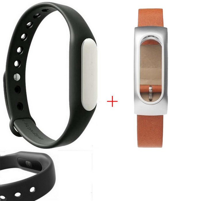 Xiaomi Mi Band 1S Smart Bracelet + Replacement Wristband -Black+BrownSmart Bracelets<br>Form  Colorblack+brownModelXMSH02HMQuantity1 DX.PCM.Model.AttributeModel.UnitMaterialAluminum alloy + silicone + top layer cowhide leatherShade Of ColorBlackWater-proofIP67Bluetooth VersionBluetooth V4.0Touch Screen TypeNoOperating SystemAndroid 4.4,Android 4.4.1,Android 4.4.2,Android 4.1,Android 4.2,Android 4.3,iOSCompatible OSAndroid 4.4 or above,<br>Bluetooth V4.0,<br>Suitable for IPHONE 4S / 5 / 5C / 5S / 6 / 6 Plus with iOS 7.0 or aboveBattery Capacity45 DX.PCM.Model.AttributeModel.UnitBattery TypeLi-polymer batteryStandby Time10 DX.PCM.Model.AttributeModel.UnitPacking List1 * Bracelet 1S1 * Black Wristband1 * Chinese user manual1 * Charging cable (15cm)1 * Leather wristband<br>