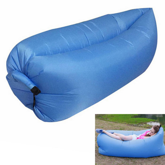 Lazy Beach Inflation-Free Bed Cushion Sleeping Bag - Blue