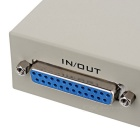 2-Port Manual Switch Printer Sharing Switcher Adapter - Grey