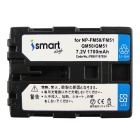 Ismartdigi FM50 Battery + Micro USB Charger for Sony NP-FM50 - Black