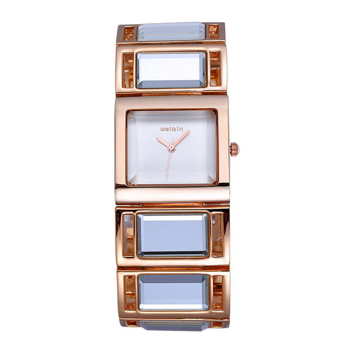 WEIQIN Square Mosaic Mirror Glass Business Quartz Watch - GoldenQuartz Watches<br>Form  ColorGolden 263006Model263006Quantity1 DX.PCM.Model.AttributeModel.UnitShade Of ColorGoldCasing MaterialalloyWristband MaterialalloySuitable forAdultsGenderWomenStyleWrist WatchTypeFashion watchesDisplayAnalogMovementQuartzDisplay Format12 hour formatWater ResistantFor daily wear. Suitable for everyday use. Wearable while water is being splashed but not under any pressure.Dial Diameter2.92 DX.PCM.Model.AttributeModel.UnitDial Thickness0.97 DX.PCM.Model.AttributeModel.UnitWristband Length20.7 DX.PCM.Model.AttributeModel.UnitBand Width2.9 DX.PCM.Model.AttributeModel.UnitBattery1*SR626SWPacking List1*Watch<br>