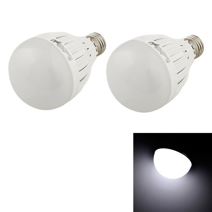 YouOKLight YK0010 E27 7W Cold White LED Bulb - White (2PCS)