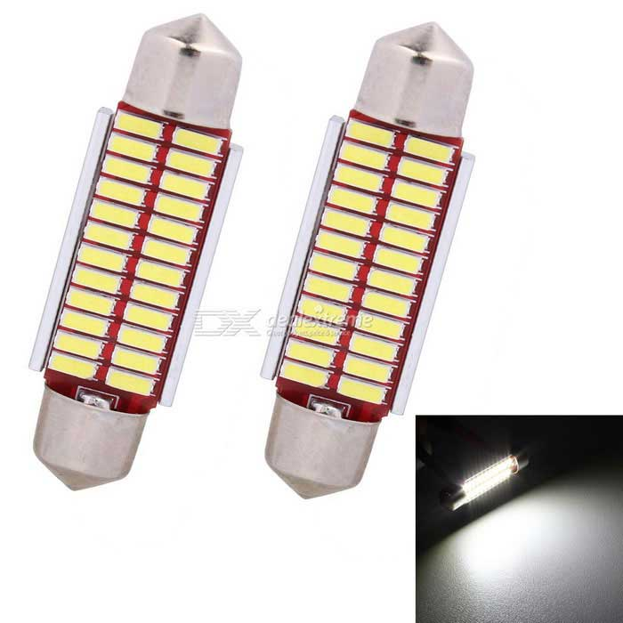 MZ Festoon 41mm 31mm 24-LED 2W Car Canbus Reading Lamp Cold White (2PCS)