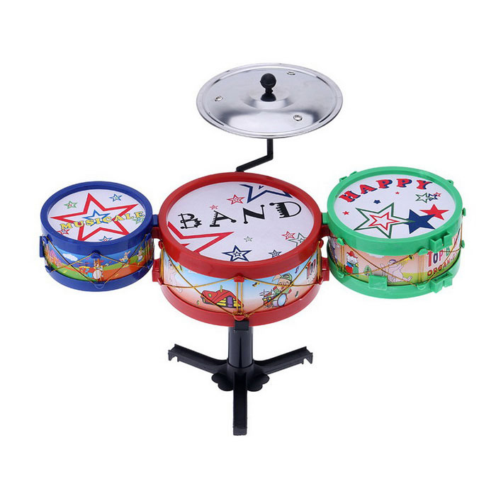 Small-Jazz-Drum-Set-Kids-Electronic-Plastic-Gift-Toy-Red-2b-Blue