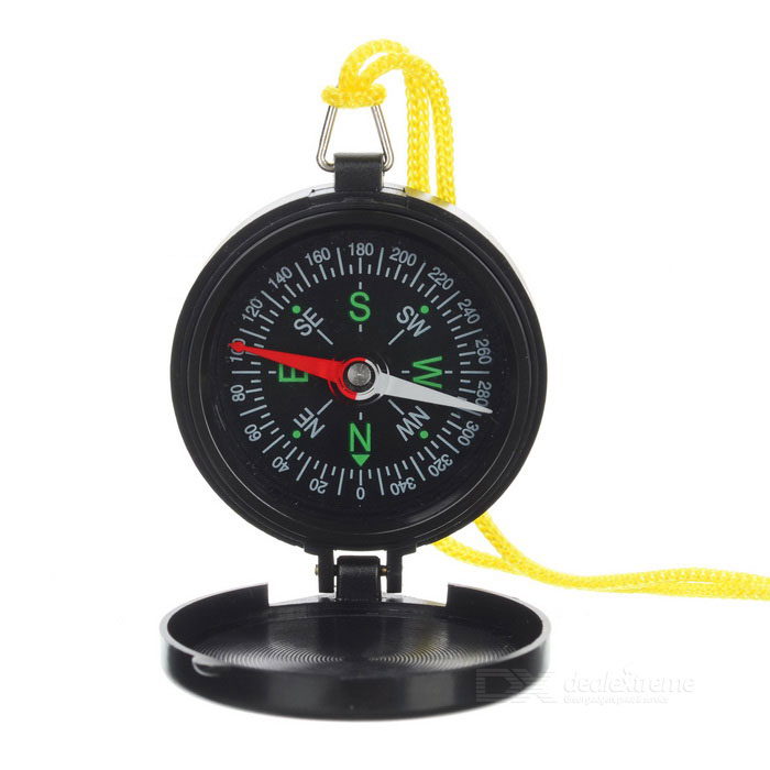 S-Co Přenosné Flip-Open Pocket Compass - Black