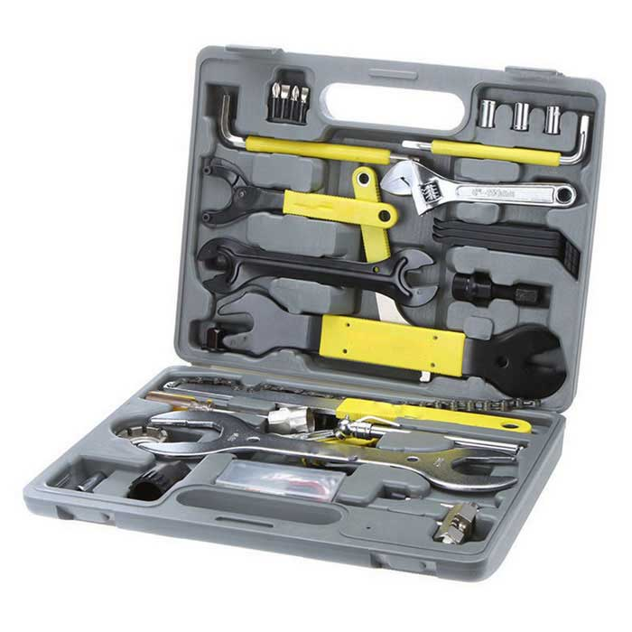44-in-1 Bicycle Repair Tool Kit - Black + Grey