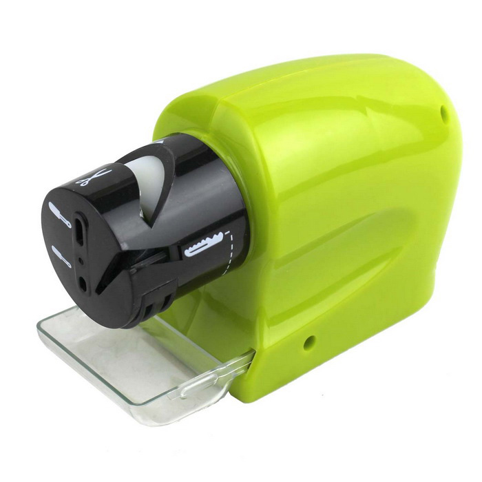 Kitchen Electric Knife Sharpener Grinding Machine - Black + Green