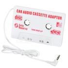 MP3 to Cassette Adapter for Car Stereos (Music and HD Sound) - White
