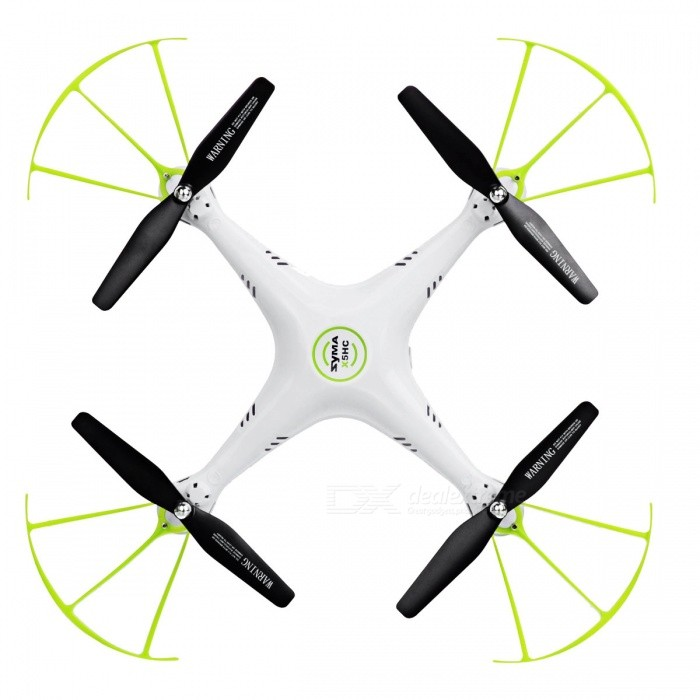 Syma X5HC-1 4-Channel RC Drone Quadcopter with 2.0MP HD Camera - WhiteR/C Airplanes&amp;Quadcopters<br>Form  ColorWhiteModelX5HC-1MaterialABSQuantity1 DX.PCM.Model.AttributeModel.UnitShade Of ColorWhiteGyroscopeYesChannels Quanlity4 DX.PCM.Model.AttributeModel.UnitFunctionUp,Down,Left,Right,Forward,Backward,HoveringRemote TypeIRRemote control frequency2.4GHzRemote Control Range100 DX.PCM.Model.AttributeModel.UnitSuitable Age 8-11 years,12-15 years,Grown upsCameraYesCamera PixelOthers,2.0MLamp YesBattery TypeLi-ion batteryBattery Capacity500 DX.PCM.Model.AttributeModel.UnitCharging Time60 DX.PCM.Model.AttributeModel.UnitWorking Time10 DX.PCM.Model.AttributeModel.UnitRemote Controller Battery TypeAARemote Controller Battery Number4(Not included)Remote Control TypeWirelessModelMode 1 (Right Throttle Hand),Mode 2 (Left Throttle Hand)Packing List1 * Syma RC Quadcopter1 * Remote Controller1 * Micro SD card (4G1 * USB charging cable1 * Screwdriver1 * Card reader1 * Camera2 * Spare A propellers2 * Spare B propellers4 * Protective items4 * Base brackets<br>